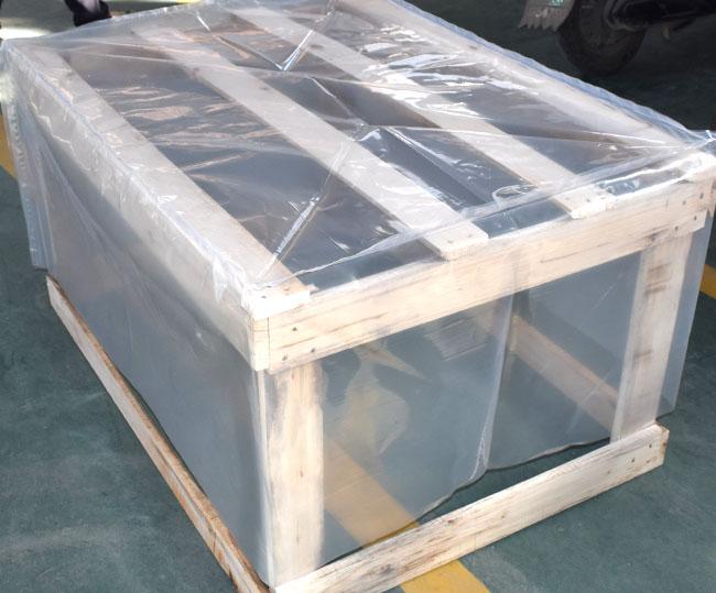 Three-dimensional (square) heat shrinkable bag