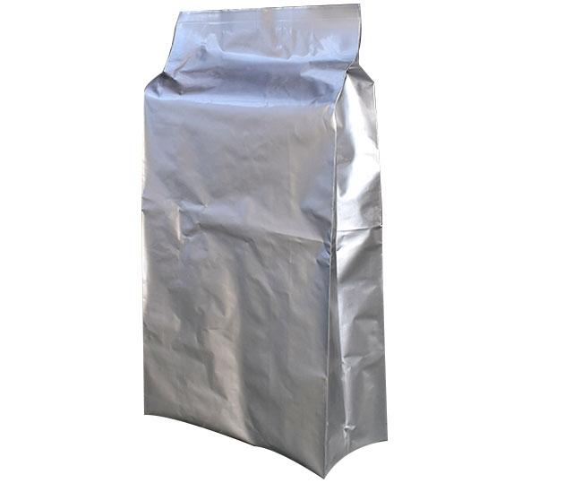 Flat three-dimensional aluminum foil bag